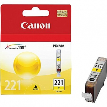 CANON CLI-221Y OEM ORIGINAL YELLOW INKJET CARTRIDGE-1