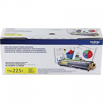 BROTHER TN-225Y OEM ORIGINAL YELLOW TONER CARTRIDGE HIGH YIELD-1