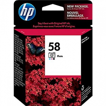 HP 58 PH OEM ORIGINAL COLOR INKJET CARTRIDGE-1
