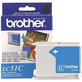 BROTHER  LC51C OEM CARTOUCHE JET D'ENCRE D'ORIGINE CYAN-1