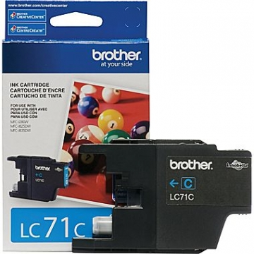 BROTHER LC71C OEM ORIGINAL CYAN INKJET CARTRIDGE-1