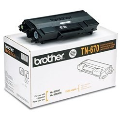 BROTHER TN-670 OEM ORIGINAL BLACK TONER CARTRIDGE STANDARD YIELD-1