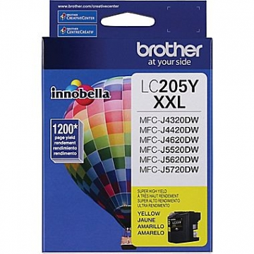 BROTHER LC205Y OEM ORIGINAL YELLOW INKJET CARTRIDGE-1