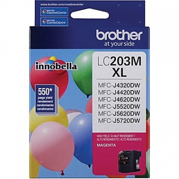 BROTHER LC203M OEM CARTOUCHE JET D'ENCRE D'ORIGINE MAGENTA-1