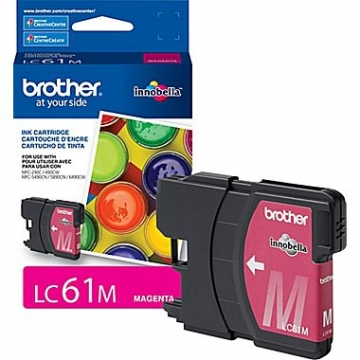 BROTHER LC61M OEM ORIGINAL MAGENTA INKJET CARTRIDGE-1