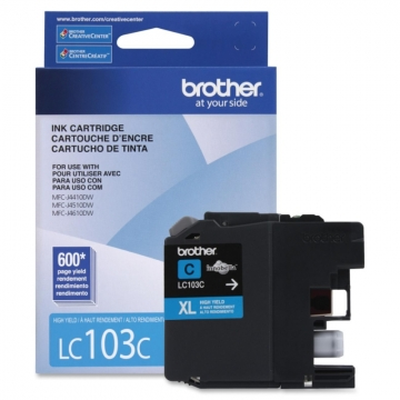 BROTHER LC103C OEM ORIGINAL CYAN INKJET CARTRIDGE-1