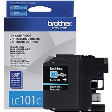 BROTHER LC101C OEM ORIGINAL CYAN INKJET CARTRIDGE-1
