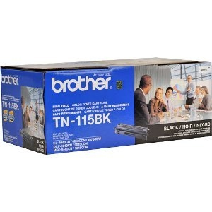 BROTHER TN-115BK OEM ORIGINAL BLACK TONER CARTRIDGE HIGH YIELD-1
